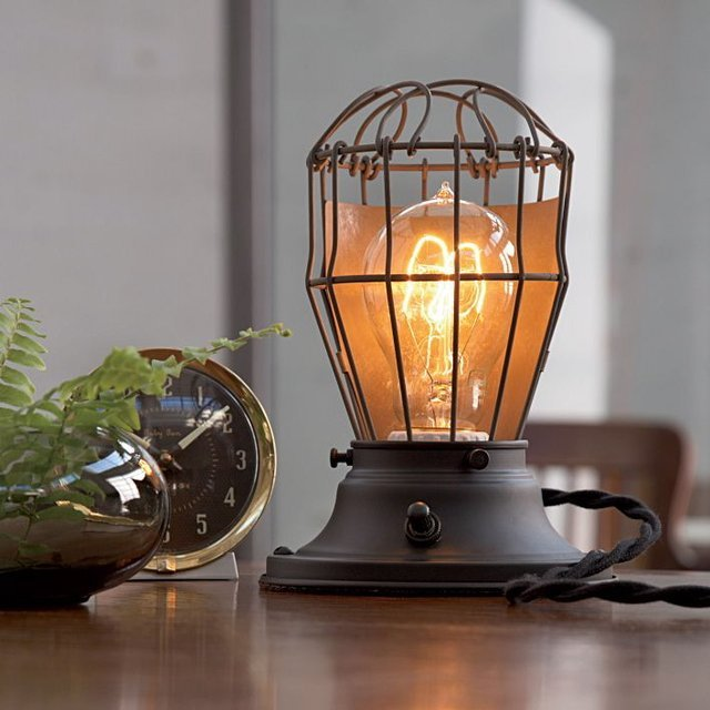 Clover Industrial Table Lamp - eclectic - table lamps - - by Rejuvenation
