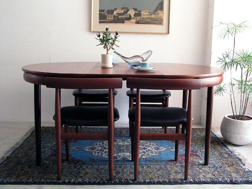 antikmodern: the shop: Hans Olsen 'Roundette' table and chair set