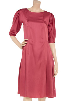 Marni Textured-satin dress - 75% Off Now at THE OUTNET