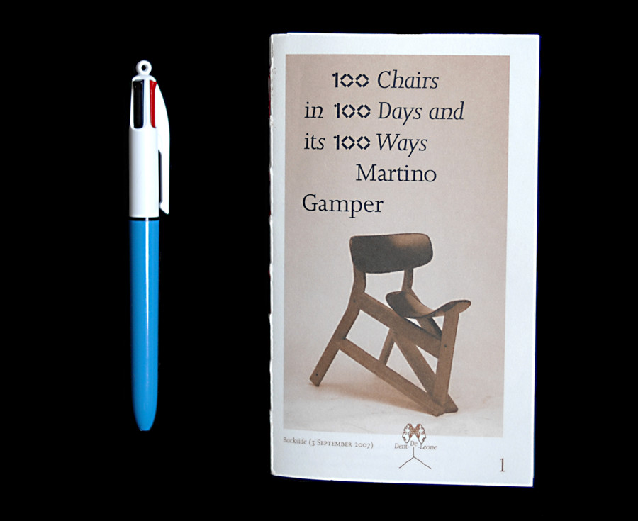 Dent-De-Leone : 100 Chairs in 100 Days and its 100 Ways — Martino Gamper