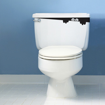 Original Toilet Monster Bathroom Sticker by Hu2Design on Etsy