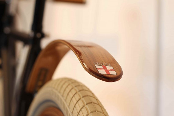 Woody's Chop Chort Wood bike fender by woodysfenders on Etsy