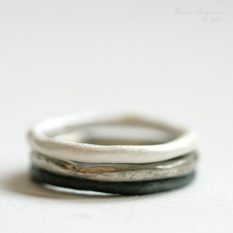 T11 Organic Stacking Rings by lachicadelosanillos on Etsy