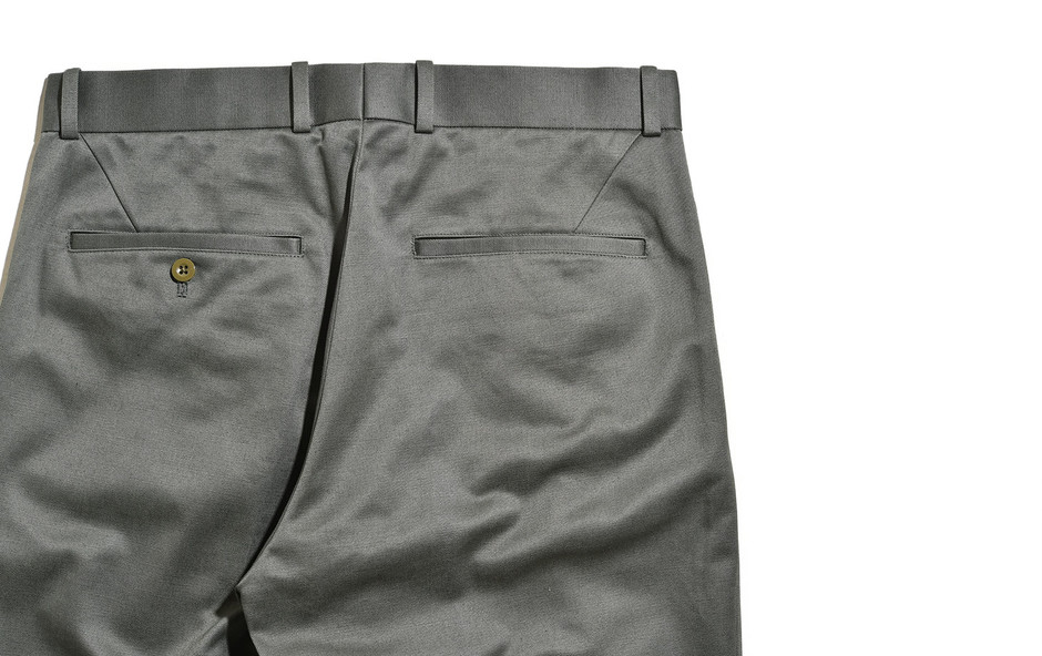 San Joaquin Cotton Chino Loose Fit Tapered-カーキグリーン