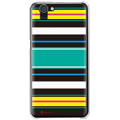 Moisture Stripe ブラック (クリア) design by Moisture / for AQUOS PHONE SERIE SHL23 /au