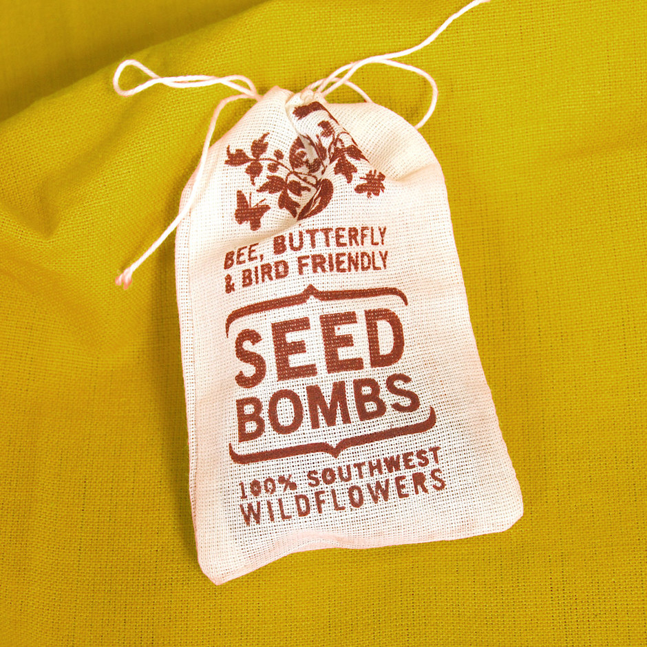 seed bombs Making seed bombs and throwing, concealing, digging, or just gently placing them in places you see that could use a little love – think vacant lots, and random patches of public dirt – is a fun and productive way to get your hands dirty, and adds a little (or a lot) of beauty to your world.
