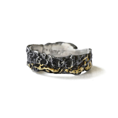 Dawn #2 Ring - Black & Gold