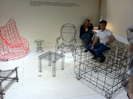 Wire Frame Furniture - Jan Plechac's Icons Collection Takes on Famous Chair Forms (GALLERY)