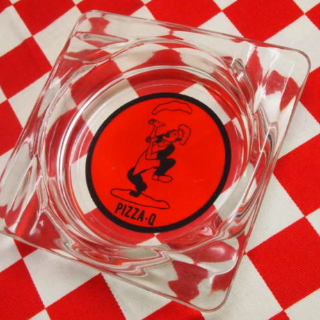 Fire King Pizza Q  Ashtray | Jadeite Magic Gallery