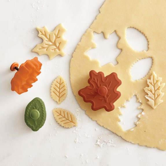 Fall Leaf Piecrust Cutters, Set of 3 | Williams-Sonoma