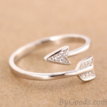 925 Sterling Silver Cupid Arrow Couple Opening Ring|Fashion Rings - Womens Accessories - ByGoods.com