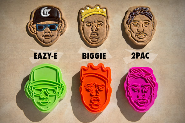 Baking with my Homies: 2-Pac, Eazy-E, and Notorious BIG-inspired cookie cutters