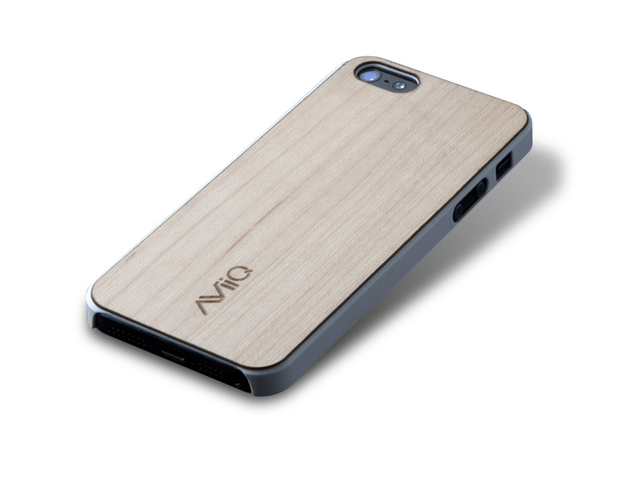 AViiQ - Ultra Thin Series iPhone 5 Case with Wood Trim
