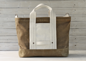 LAYERxlayer — Field Tan & Sage Utility Tote