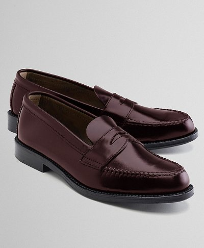 Cordovan Unlined Penny Loafer | Brooks Brothers