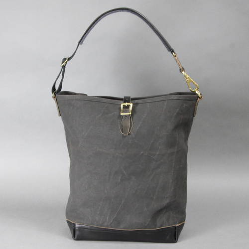 AGING CANVAS / ONE STRAP CARRYALL(BLACK) | evergreen works