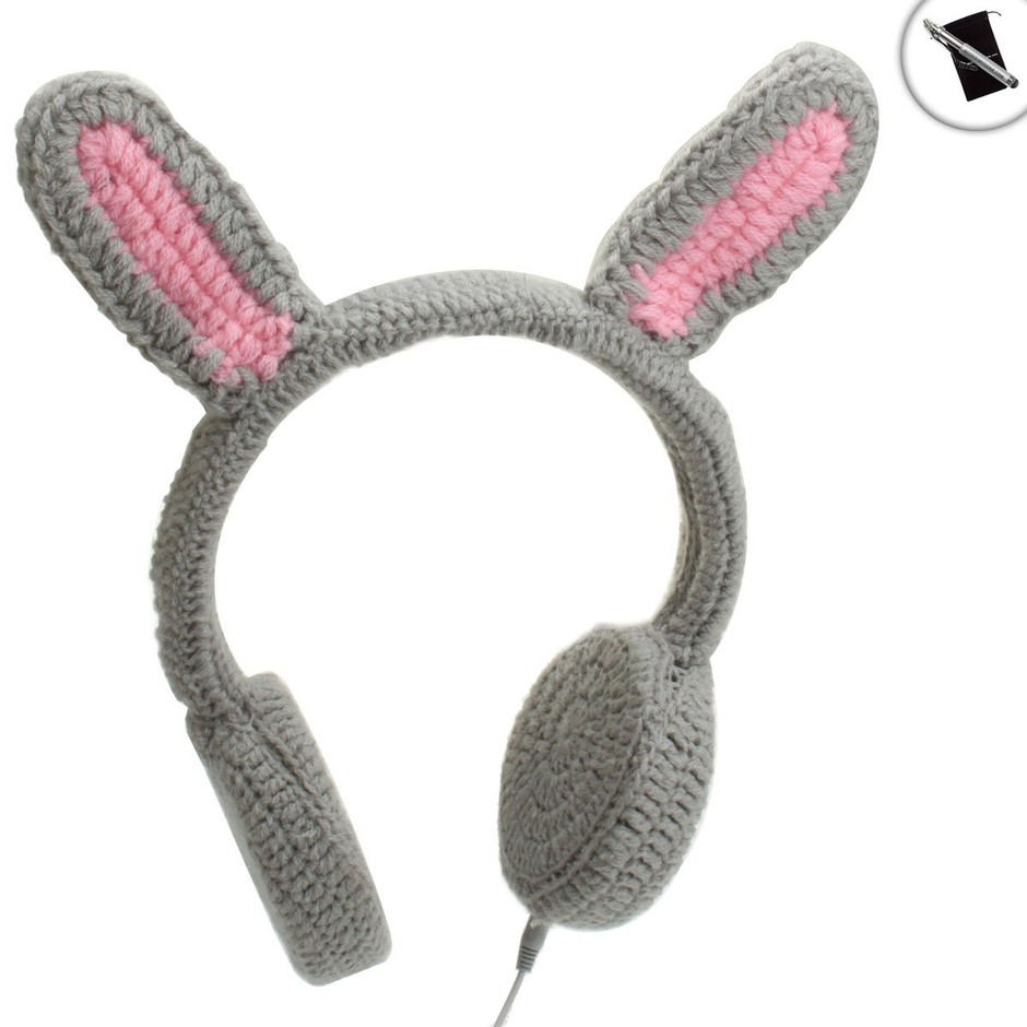 Amazon.com: BunnyPHONES Crocheted Rabbit Ear Stereo Headphones with Stylus and Accessory Bag for Fuhu NABI 2 , Kurio Kids Tablet , Tabeo 7-inch and Many More Children's Tablets!: Electronics