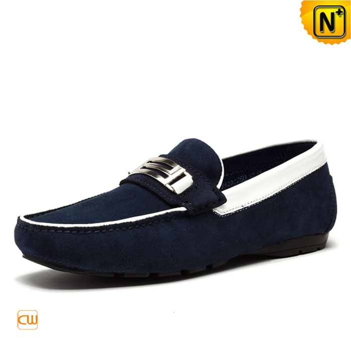 Mens Suede Leather Loafers Shoes CW740123