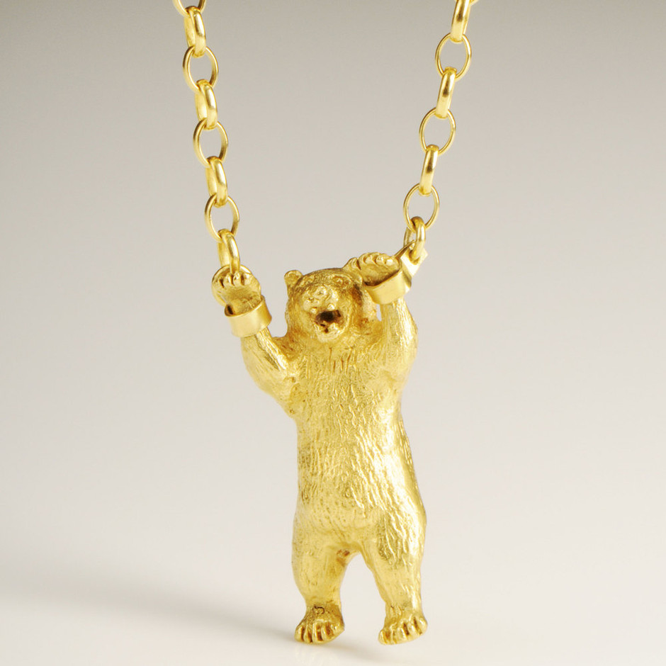 Luna & Curious — Hand Cuffed Bear Necklace