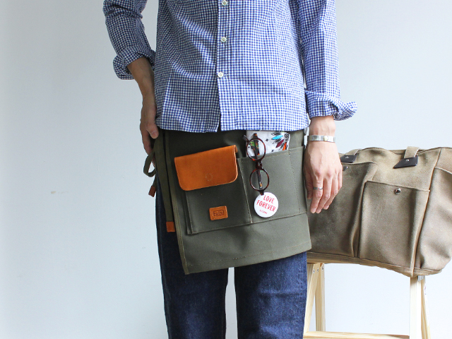 hobo Washed Canvas No.6 Apron Strato