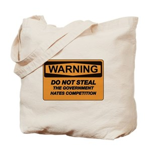 cafe press Canvas Tote BagsDON'T STEAL, THE GOVERNMENT HATES COMPEPI Tote Bag - Google 検索