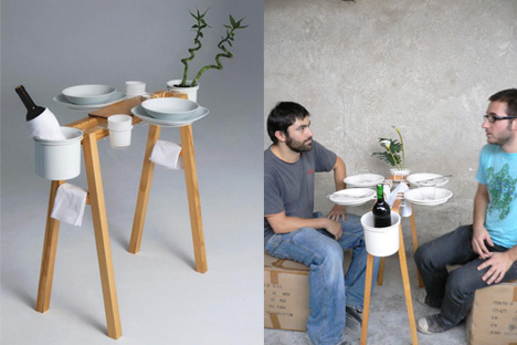 Less is More; a Dinner Table for Two Reduced to Its Essence : TreeHugger