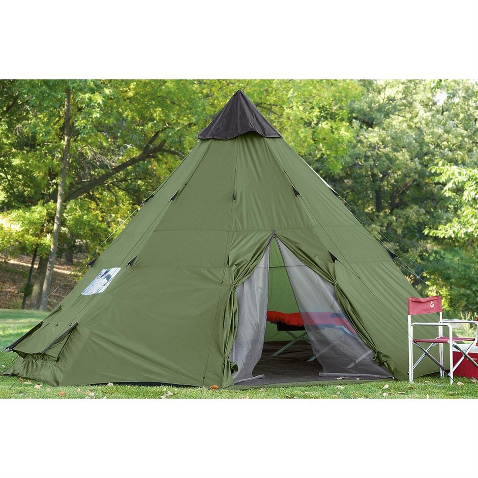 Guide Gear 18x18' Teepee Tent - 884278, Tents at Sportsman's Guide