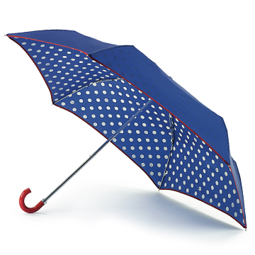 Cobalt Spot Superslim Umbrella | Umbrellas - Lulu Guinness