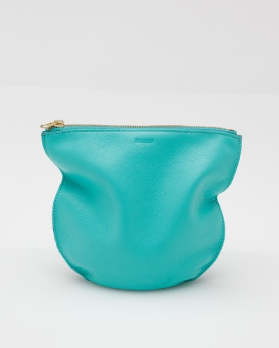 Medium Leather Pouch Mint