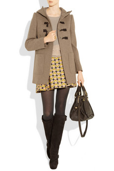 Miu Miu?|?Hooded wool duffle coat?|?NET-A-PORTER.COM