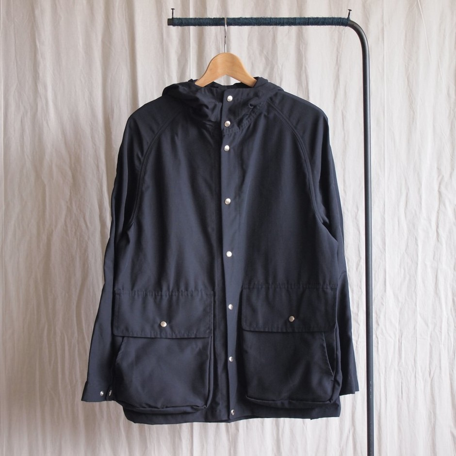 YAECA - 60/40 Cloth Hood Shirt #navy