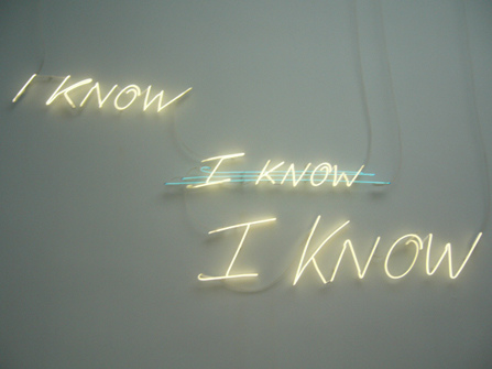 Tracey Emin Iknow I know I know « Pilipon Studio Journal
