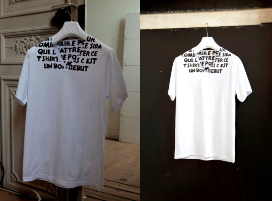 Maison Martin Margiela Charity AIDS T-Shirt in French Maison-Martin-Margiela-charity-AIDS-T-Shirt-2011 – Highsnobiety.com