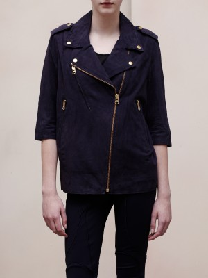 【LASO ラソ】【Acne】 Smith SS11 /RELAXED SUEDE LEATHER JACKET-suede blue アクネ
