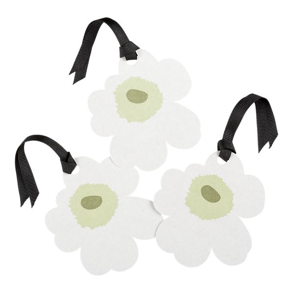 Set of 3 Unikko Black and White Gift Tags in Home Accents | Crate&Barrel