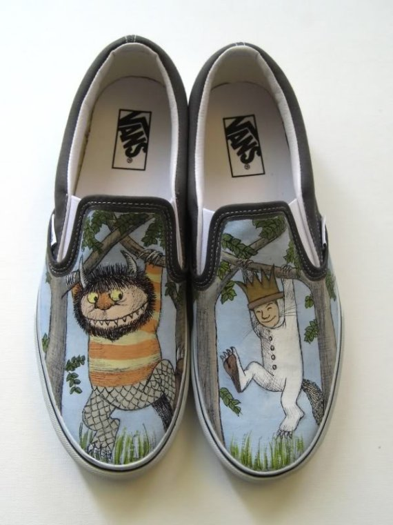 Where the wild things are Vans shoes by stabbyvonkillerstein