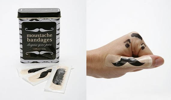Mustache Bandages | Incredible Things