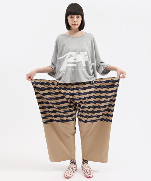 ANREALAGE(アンリアレイジ) | 【ANREALAGE×mintdesigns】WIDE&SHORT PRINTPANTS(パンツ) - ZOZOTOWN