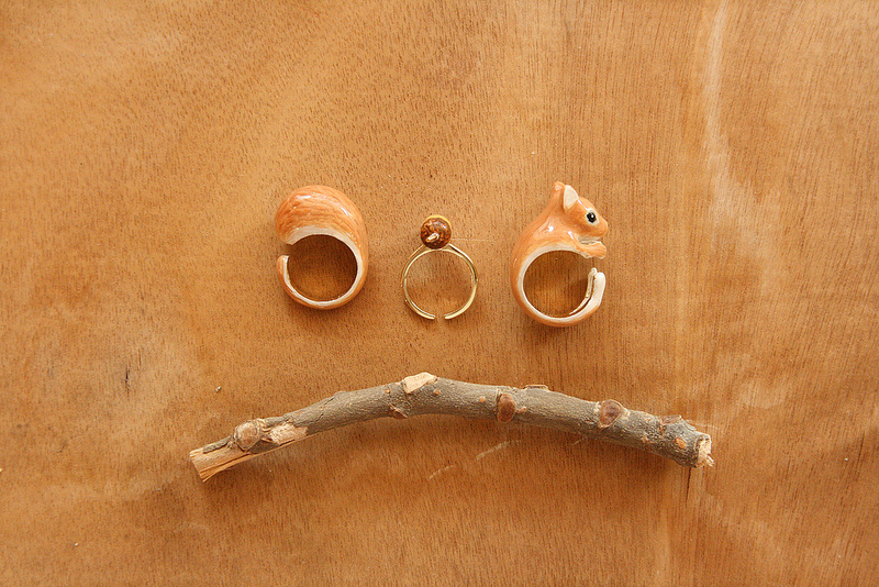 *new* Hand painted 3-in-1 ring set – Squirrel | Flickr - Photo Sharing!