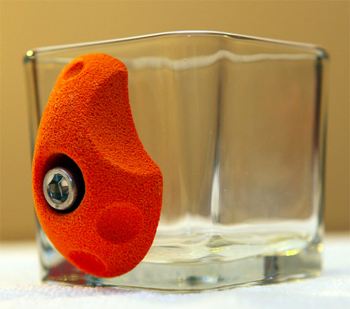 Artificial climbing holds serve as handle on Coffee Mug   Gear Review   Gear Junkie