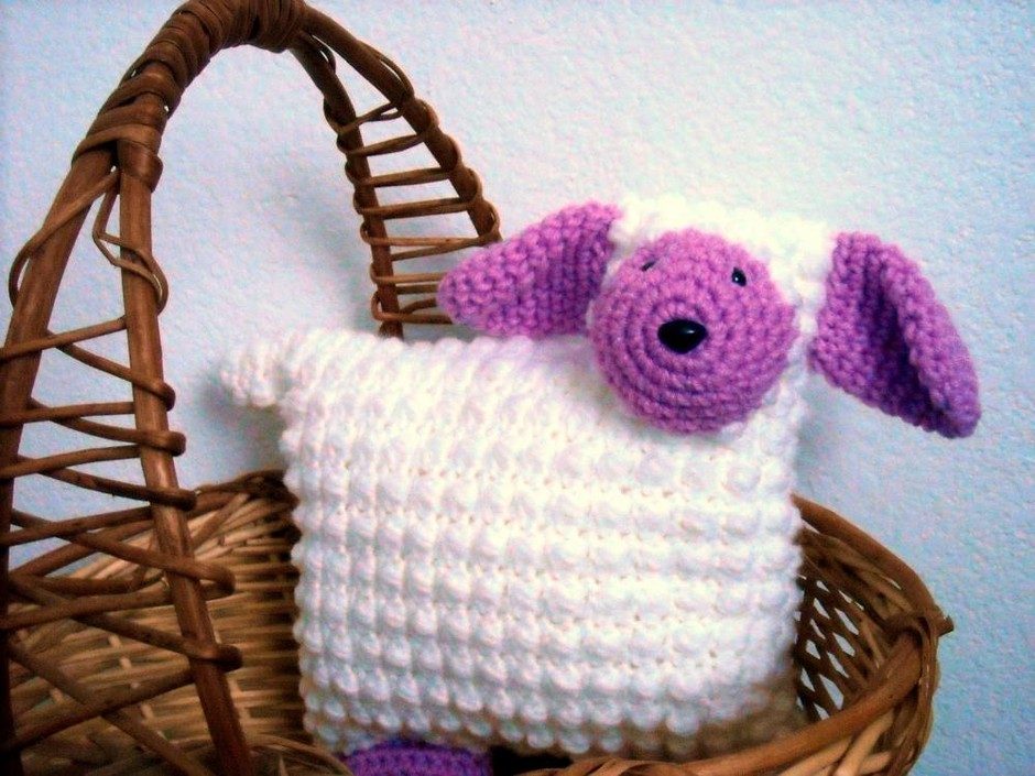 Lamb Animal Pillow Nursery Decor Crocheted | Luulla