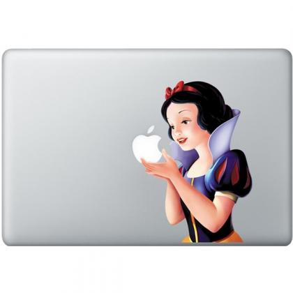 macbook decal apple colorful snow white fun macbook by nokdecal