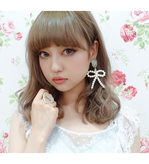 PEARL RIBBON earring - Katie Official Web Store