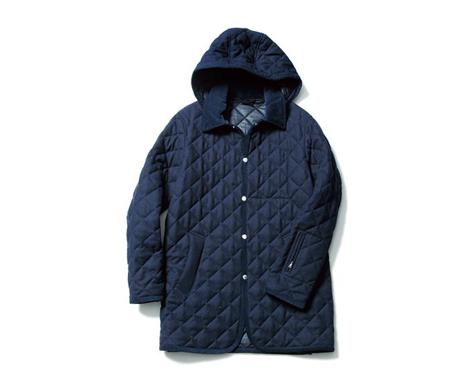 SOPHNET. | PRODUCT | WOOL MELANGE QUILTING HOODED COAT