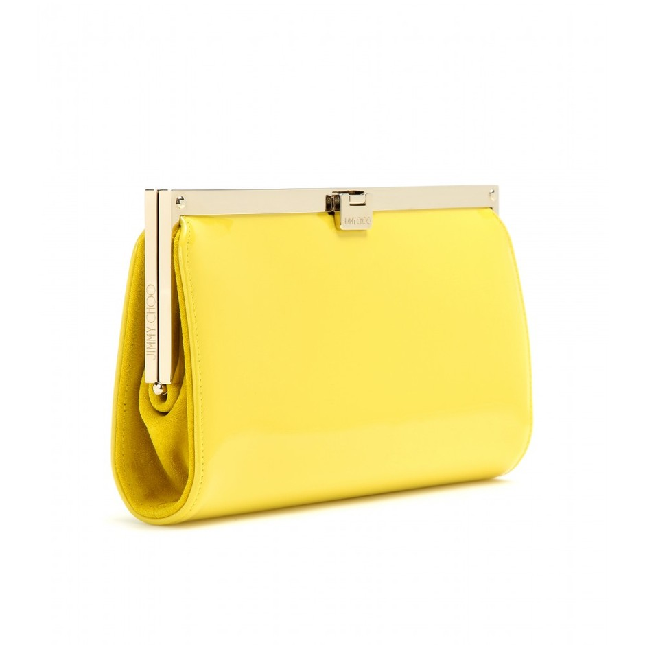 mytheresa.com - Camille patent leather clutch - Current week - New Arrivals - Jimmy Choo - Luxury Fashion for Women / Designer clothing, shoes, bags