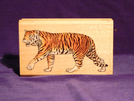 Tiger Rubber Stamp. New