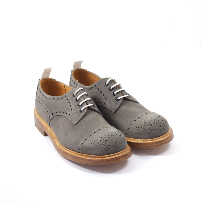 Quilp Shoes / M 7675 Derby Brogue Shoes / Grey Suede , Toe Cap - Store - nonsect radical