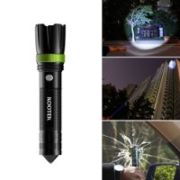 Kootek Tactical Flashlight Knife K1 Multifunctional Self Defense Survival Knife with XML T6 LED Rechargeable Adjustable Torch Emergency Light for Vehicle Camping Outdoor