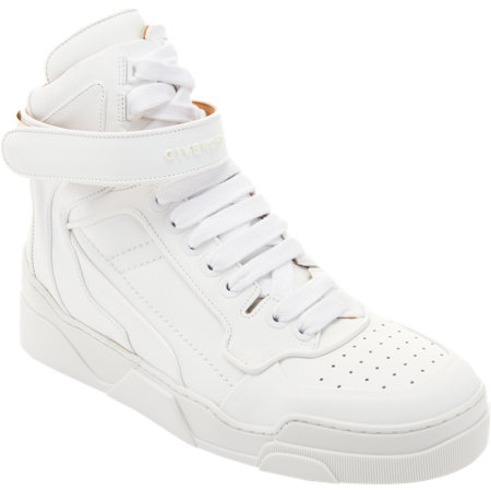 Givenchy High Top Metal Plated Ankle Strap Sneaker at Barneys.com