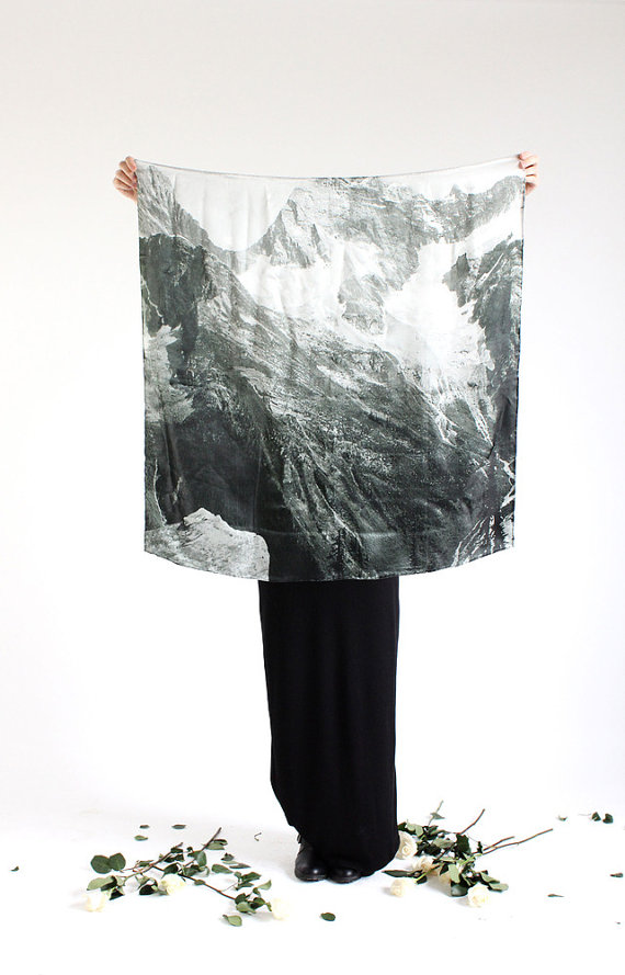 light as a feather mountain silk scarf INCLUDES by fieldguided